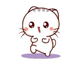 LINE Creators' Stickers - Wen small meow 5 Example with GIF Animation Cute Love Gif, Cute Cat Gif, Cute Love Cartoons, Cute Cartoon, Ghost Hug, Animated Smiley Faces, Sleepy Kitten, Chibi Cat, Cute Kawaii Drawings