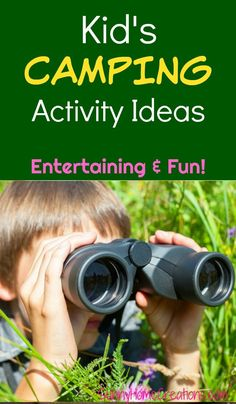 Kid's camping activity idea.  When camping with kids, it's always good to have some activities and games in mind to keep your kiddos entertained.  #camping