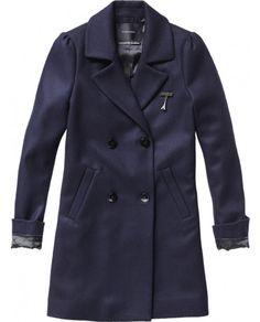 Double breasted classic woolen coat - Jackets - Scotch & Soda Online Shop
