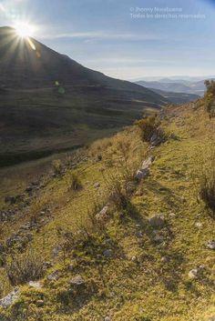 Atardecer en las alturas de Parco. Distrito de Parco, provincia de Jauja, región Junín, Perú.