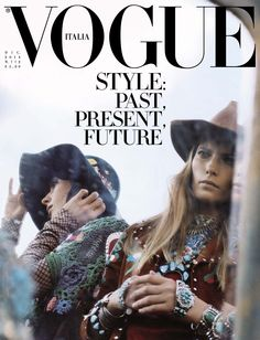 nice Vogue Italia December 2014   Valerija Kelava & Jamie Bochert by Steven Meisel [Cover]
