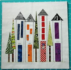 High Rise Row Houses #quilt