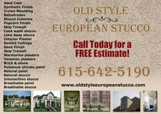 Ad Design Examples - Old Style European Stucco Image Marketing Pros 615-200-7717 Nashville 865-291-0373 Knoxville