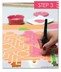 how to stencil using moroccan stencils for pretty custom wall art, design d cor, diy home crafts, painting, Choosing to isolate areas of your canvas by color and pattern adds to the uniqueness of your stenciled creation Diy Canvas Art, Canvas Crafts, Diy Wall Art, Canvas Ideas, Diy Crafts For Teens, Diy Crafts To Sell, Fun Crafts, Sell Diy, Kids Diy