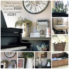 Clean & Scentsible: Our Piano Room - Wonderful ideas. Do people actually live in these places?