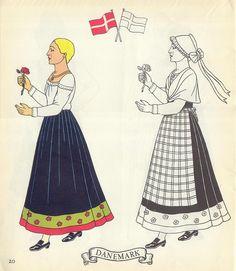Jolis Costumes: Album a Decouper, Composer, Colorier / eurocolor p20: Denmark | by pilllpat (agence eureka)