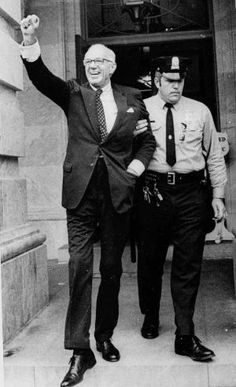 Dr. Benjamin Spock, the American pediatrician whose 1946 book Baby and Child Care is one of the biggest best sellers of all time, is arrested at a protest against the Vietnam War in Washington on May 16, 1972.