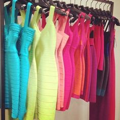 colorful mini dresses <3