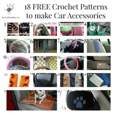 Here are 18 FREE Crochet Patterns to make some car accessories for your vehicle. Crochet yourself a steering wheel cover, cup holder or even an antennae yarn bomb!