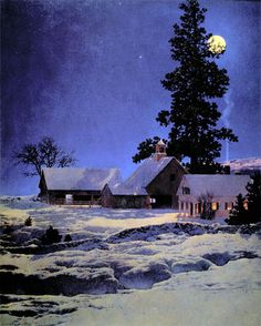 "Maxfield Parrish ""Moonlight Night"""