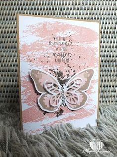 Magical Scrapworld: watercolor wings Stampin' Up! Watercolor wash, bold butterfly