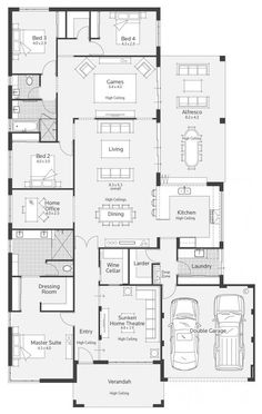 Home Layout Plans 749286456725575756 - Archipelago I Display Home – Lifestyle Floor Plan Source by Dream House Plans, Modern House Plans, House Floor Plans, My Dream Home, Dream Houses, Kitchen Floor Plans, Bedroom Floor Plans, The Plan, How To Plan