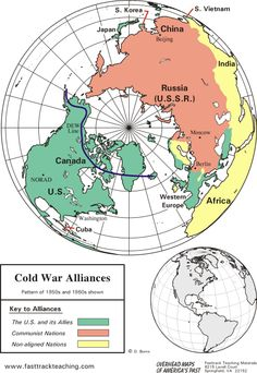 Map Shows Alliances During The Cold War Including The Soviet Union U