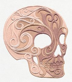Baroque Natura - Skull - Thread List   Urban Threads: Unique and Awesome Embroidery Designs