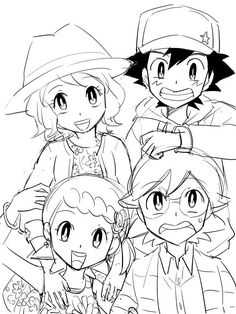 Ash Ketchum and His Kalos Friends Pokemon XY&Z Generation
