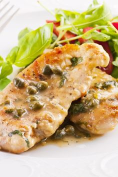 Chicken Scaloppine With Lemon Glaze #Recipe - Low Fat and Delicious!
