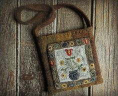Colonial Tulip Primitive Pocket Punch by TeresasPrimTreasures