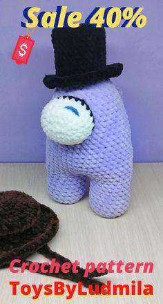 Crochet Animal Patterns, Crochet Doll Pattern, Crochet Patterns Amigurumi, Amigurumi Doll, Crochet Dolls, Knitting Patterns, Handmade Ideas, Handmade Toys, Etsy Handmade