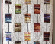 "Quilt pattern - ""Beads on a String"" - create a beautiful modern quilt using scraps, 54"" x 60"" - Instant download PDF"
