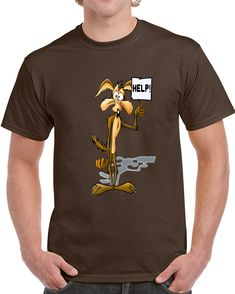 Wile E Coyote Looney Tunes Coyote Help T Shirt