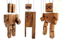 Awesome wooden puppets by Juan Pablo Cambariere.