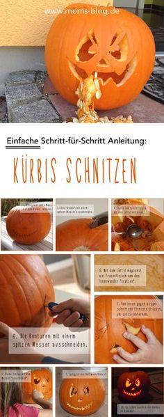 Wie schnitzt man einen Halloween Kürbis? Welche Werkzeuge eigenen sich? Wo finde ich Vorlagen? Die Antworten gibt es hier: http://www.moms-blog.de/anleitung-halloween-kuerbis-schnitzen-kinder/