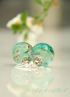 Resin real flower Resin earrings Earrings by RALIJEWELLERY on Etsy, €15.00