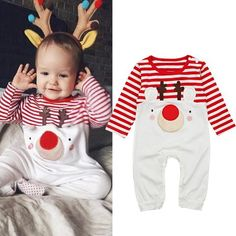 14b6fac3634 Autumn and Winter Baby Romper 2018 New Santa Claus Boy Girls Baby Clothes  Rompers Long Sleeves