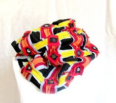 Tube Scarf  Patchwork UpcycledGeometric by recyclingroom on Etsy, $75.00