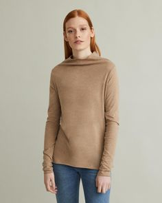 Pompei features a funnel neck, long narrow sleeves and a relaxed fit. Long sleeves Funnel neck Rolled hems cotton Model is ft 9 in and is wearing a size S Rolled Hem, Funnel Neck, Apothecary, Designing Women, Muse, Turtle Neck, Pullover, Long Sleeve, Fitness
