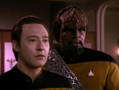 Data and Worf