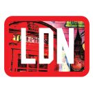 Velcro-backed patch - LDN sublimated graffiti city print with 3d Embroidery