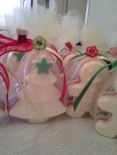 Jabones artesanales navideños !! Ideales para regalos