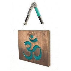 Fill up some wall space with this #Yoga carved wood sign. Add a pop of color to your room  #yogaprimitivegifts