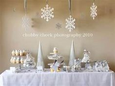 Winter wonderland party.. Classic white and simple