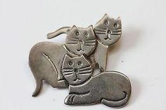 Three Cats pin