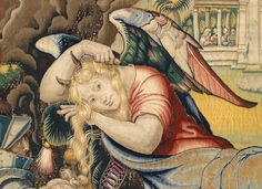 Tapestry zombies and beastly beauties have invaded the Museum. Learn more in this blog post. | Detail of Sloth personified from the Sloth tapestry in a set of the Seven Deadly Sins. Designed by Pieter Coecke van Aelst, ca. 1532–34. Woven under the direction of Willem de Pannemaker, Brussels, ca. 1548–49. Wool, silk, and silver- and silver-gilt-metal-wrapped threads. Kunsthistorisches Museum, Vienna (KK T XXXV/ 5) #Halloween