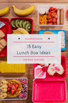 Easy Lunch Box Ideas for Back-to-School