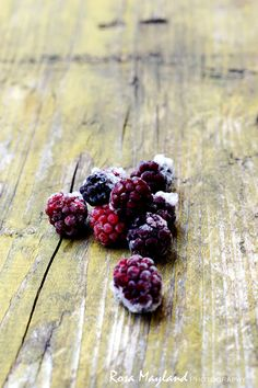 Frozen wild blackberries