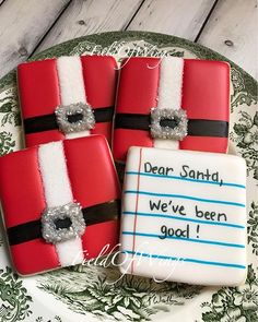 We can't forget our cookies for Santa! #FieldOfWings #CookiesForSanta #Santa #SantaBellyCookies #NoteToSanta #Cookies #CookieArt #SugarCookies #HoHoHo #DecoratedSugarCookies #ChristmasCookies #MerryChristmas #ChristmasEve #CookieBelly