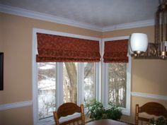 Leaf Pattern Custom Roman blinds
