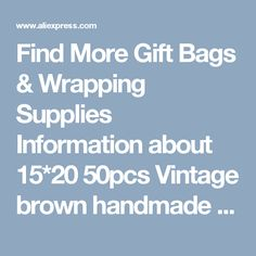 Find More Gift Bags & Wrapping Supplies Information about 15*20 50pcs Vintage brown handmade Jute Sacks Drawstring gift bags for jewelry/wedding/christmas Packaging Linen pouch Bags,High Quality gift bag material,China gift bags cloth Suppliers, Cheap gift bags mini from Fashion MY life on Aliexpress.com