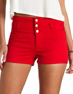 Refuge Colored High-Waisted Shorts: Charlotte Russe