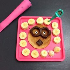 How #delicious does this #pancake #breakfast look?! We're loving the #chocolate #FunBitesMinions glasses!