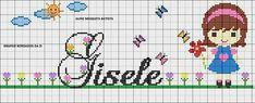 Princesas Disney, Cross Stitch Patterns, Presents, Cute, Gisele, Crochet Stitches, Cross Stitches, Boy Names, Personalized Towels