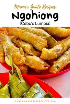 can't leave Cebu without trying these all time favorite fried crunchylicious spring roll, Ngohiong! Don't forget the sauce, coz this is the best part. Filipino Desserts, Filipino Recipes, Asian Recipes, Filipino Food, Chinese Recipes, Chinese Lumpia Recipe, Chilis, Pork Recipes, Cooking Recipes