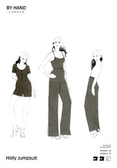 By Hand London, Sewing Pattern, Holly Jumpsuit By Hand London, Modern Sewing Patterns, Dress Making Patterns, Jumpsuit Pattern, Modern Fabric, Lake District, Mixed Media Art, Dressmaking, Diy Fashion