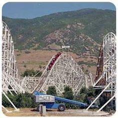 lagoon amusement park in utah | The Rollercoaster at Lagoon