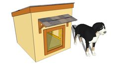 Simple plans for a well made dog house.