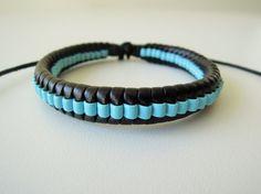 Men's Bracelet  mens leather bracelet  by leatheristanbul on Etsy